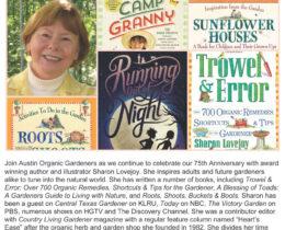 Flyer for Sharon Lovejoy talk